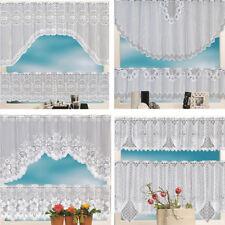 2pc Lace Coffee Cafe Net Curtain Panel Tier Curtain Set Kitchen Window Pelmet RO