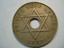 BRITISH   WEST AFRICA   1 PENNY  1937 H