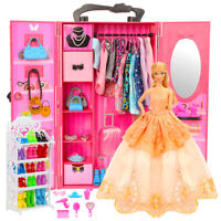 Miunana Doll wardrobe 73 accessories valueable for your money