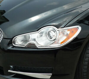 Jaguar XF 08-11 CHROME HEADLIGHT TRIMS
