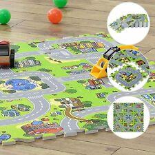 Puzzlematte Kinderteppich Spielteppich Kinder Baby Spielmatte Stadt Straße 9tlg