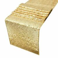 Gold Sparking Sequins Table Runner Tablecloth Christmas Wedding Party 12x72 Inch