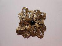 Brosche  Antik Bronze  Handarbeit Onix