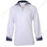 Original German Navy Shirt - Military Surplus Sailor Costume Top Naval Maritime