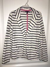 GapKids Gap Kids Sz 8 Medium Girls Navy White striped jacket Lightweight Casual
