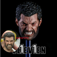 Eleven 1/6 Wolverine Head Man Sculpt  Angry Logan Hugh Jackman Fit Action Figure