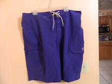 NWT mens Magellan fishing board shorts, clematis blue, Magellan logo size 40