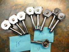 Vintage Roller Guide Tip Size 16, 15,11 Mildrum - Total 9 Pieces