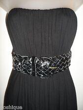 Sky Clothing Brand S Dress Black Mini Leather Belt Party Club Sexy Fall Sexy