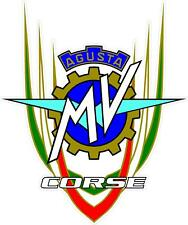 "#z2063 (1) 3.75"" MV Agusta MVAgusta Vintage Racing Logo Decal Sticker LAMINATED"