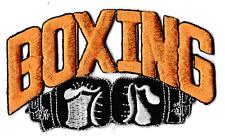 Écusson patche boxing boxe gants kick sport patch badge orange