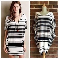 NWT Anthropologie sz M Puella Striped Jersey Knit Elevation Tunic Cocoon Dress