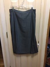 Gun metal gray skirt Marina Rinaldi , new with defect, Italy 31, 24, 3x