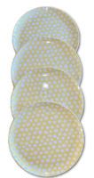 """Spritz Melamine 10"""" Yellow Dinner Plate White Flower Design Set of Four Target"""