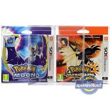 Protector de la caja del juego Pokemon Luna Ultra Sun Fan Edition Nintendo 3 DS 0.5 mm Plástico