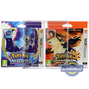 3DS Game BOX PROTECTOR for Nintendo Pokemon Moon Ultra Sun Fan Edition 0.5mm PET