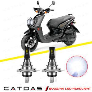 9003 H4 LED Headlight Bulbs Kit 6000K White For 2009-2015 Yamaha YW125 Zuma 125