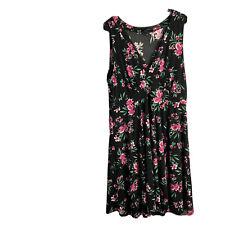 Torrid Size 1 Dress Women Plus Size Floral Sleeveless Black Pink Green