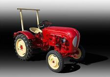 Porsche Diesel Junior Farm Vintage Classic Tractor Photo CA-1001