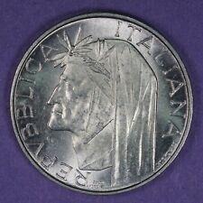 1965 Italy 500 Lire silver coin, UNC, KM# 100