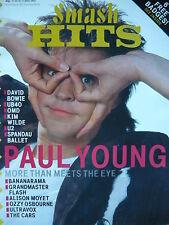 SMASH HITS 11/10/84 - PAUL YOUNG - SPANDAU BALLET - SADE - UB40