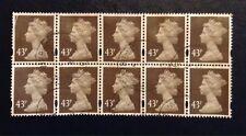 Block Of 10 x 43p Deep Olive Brown SGY1716