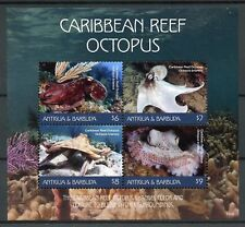 Antigua & Barbuda 2018 MNH Caribbean Reef Octopus 4v M/S Marine Animals Stamps