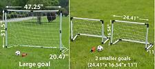 2-in-1 Portable Kids Youth Soccer Goal Net set w Ball/ Pump Sport Training Gift