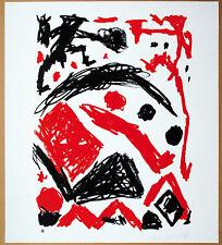 A.R.Penck 1939-2017 & Gerhard Elsner * 1930: 2 Farb-Graphiken, beide signiert