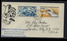 French  Antarctic  118, C91   on  cover Expedition             KEL1005