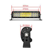 6D+ 12INCH 192w Led Work Light Bar Flood Spot Combo Offroad Truck SUV 13 Driving