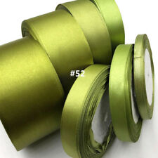 25 Yards (6mm-50mm)O-Green Satin Ribbons Wedding Party Sewing Decorations 52