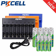 Rechargeable Batteries AA/AAA LSD NIMH 1.2V + 8 Slot Charger For Flashlights