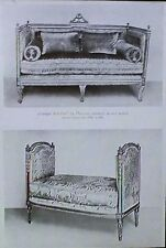 Louis 16th 18th Century French Sofa and Baquette, Magic Lantern Glass Slide