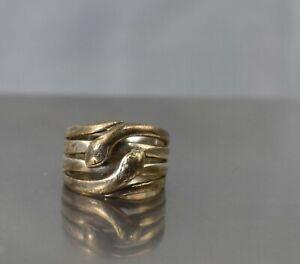 CrazieM Sterling 925 Silver Vintage Southwest Estate Ring Size 5.5 6.1g x03