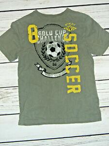 Boys T-Shirt~ Soccer~ Size 10~ LARGE OLIVE GREEN Color~ Gap Kids