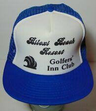 Vintage 1980s Biloxi Mississippi Beach Resort Golf Club Snapback Trucker Hat Cap