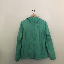 Columbia Women's Mint Green Omni-Shield Zip Up Hooded Rain Windbreaker Size L