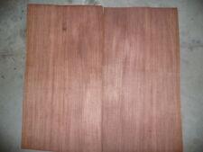"Quarted plain bubinga wood veneer 11""x23"""