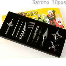 Hot Anime Naruto Uzumaki Kakashi Metal Kunai Shuriken Cosplay Gift 10pc/box New
