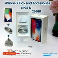 Original iPhone X box only and Accessories