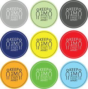 Social Distancing Floor Sticker/Decals - Anti Slip, Keep Apart Stickers 1M D1
