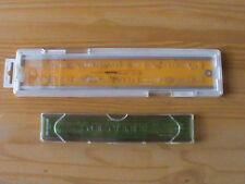 2 Schreibschablonen ROTRING  340 070 (7 mm) + NESTLER  5605 (5 mm)
