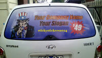 One Way Vision Car Sticker Oneway Rear Vehicle Window Many Sizes