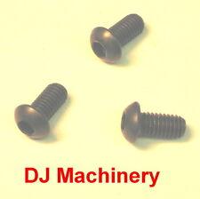 (4) M6 x 1.0 Metric 15mm Long Fasteners Button Head Allen Screw Bolts 6mm 6.0mm