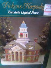 Dickens Keepsake Porcelain Lighted City Hall  !