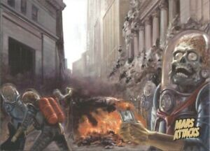2013 Mars Attacks Invasion Gold #36 Wall Street Wipeout