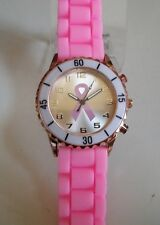 Geneva Pink Ribbon Breast Cancer Awareness Silicone Women's  Fashion Watch