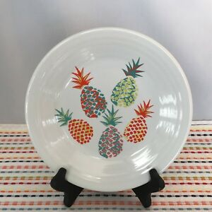 Fiestaware Pineapple Lunch Plate Fiesta White Exclusive 9 inch Luncheon NWT