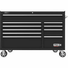 Homak 54in Pro Ii 10-Drawer Rolling Tool Cabinet 18,016 Cu. in of Storage